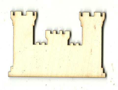 Castle - Laser Cut Wood Shape BLD110