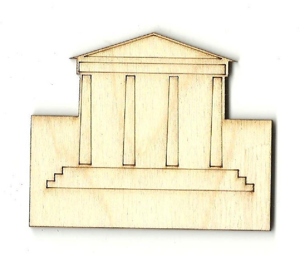 Greek Building - Laser Cut Wood Shape Bld15 Craft Supply