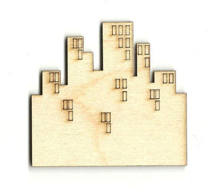 City - Laser Cut Wood Shape Bld26 Craft Supply