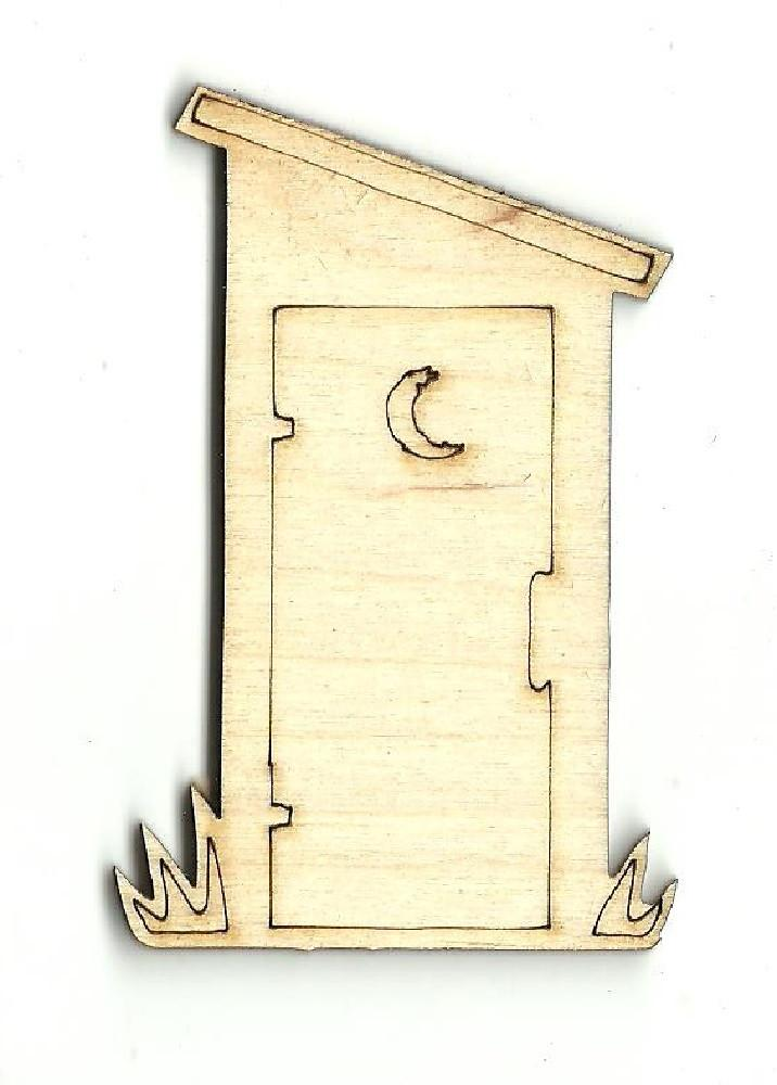 Outhouse - Laser Cut Wood Shape Bld2 Craft Supply