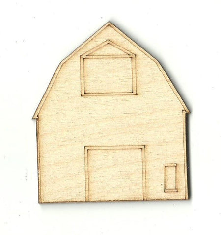 Barn - Laser Cut Wood Shape BLD30