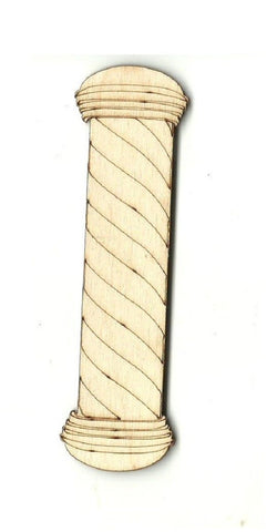 Barbershop Pole - Laser Cut Wood Shape Bld32 Craft Supply