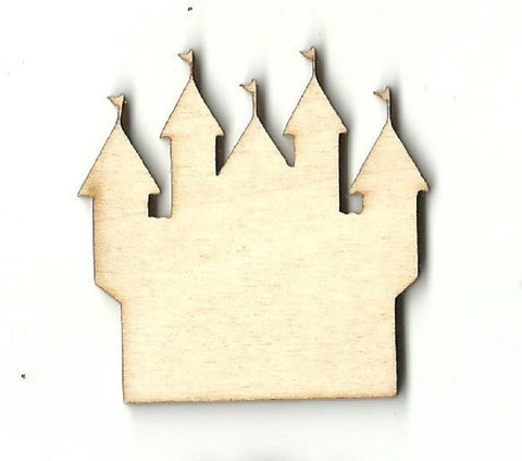 Castle - Laser Cut Wood Shape Bld38 Craft Supply