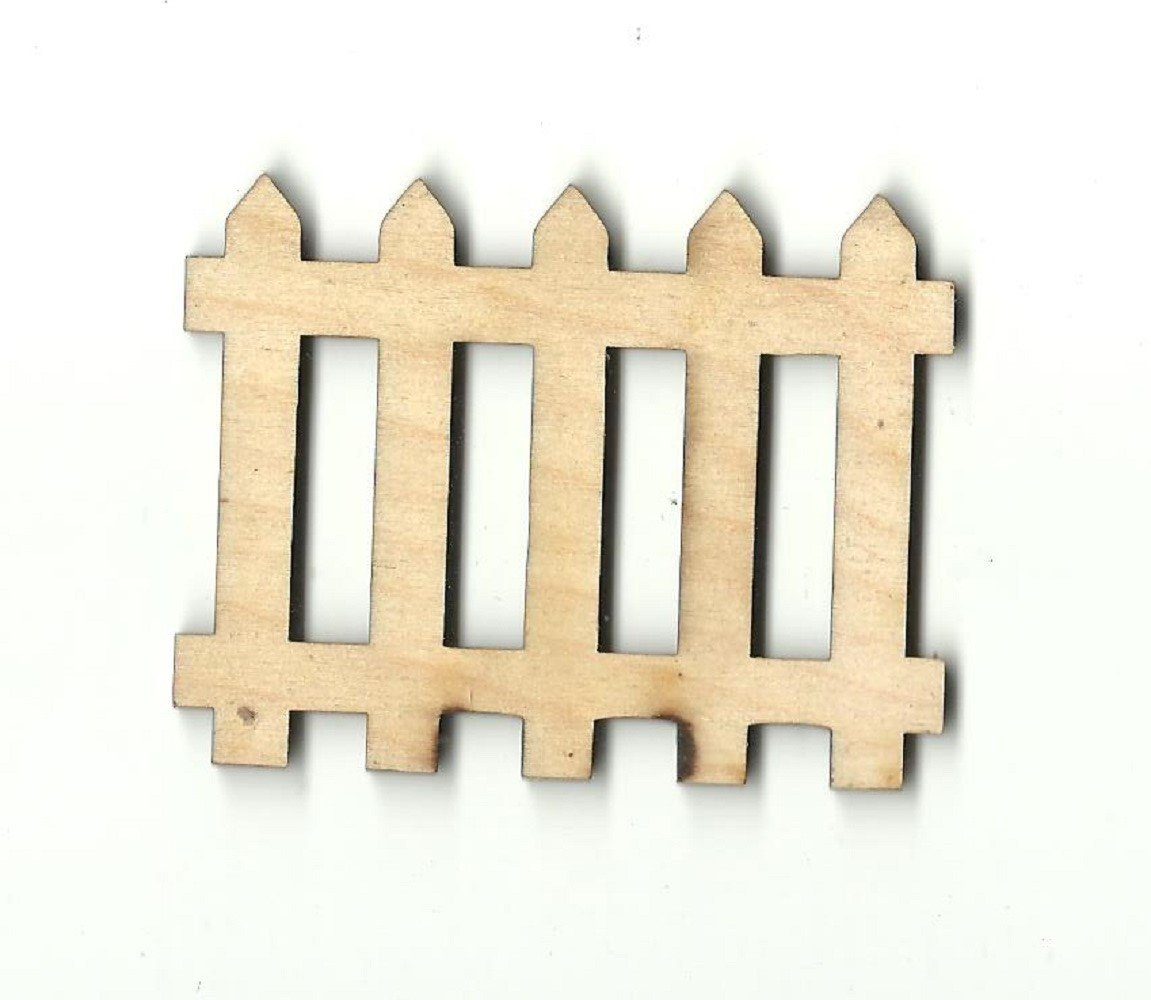 Picket Fence - Laser Cut Wood Shape Bld67 Craft Supply