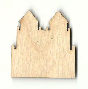 Castle - Laser Cut Wood Shape Bld48 Craft Supply