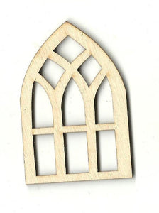 Window - Laser Cut Wood Shape Bld4 Craft Supply