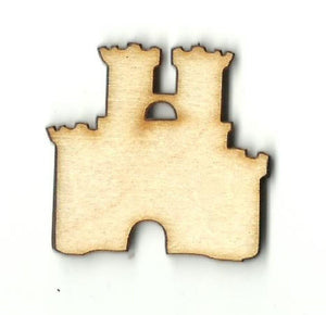 Castle - Laser Cut Wood Shape Bld61 Craft Supply