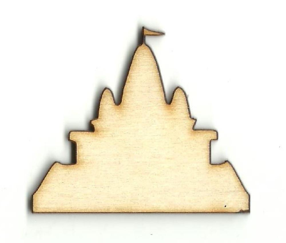 Sand Castle - Laser Cut Wood Shape Bld60 Craft Supply