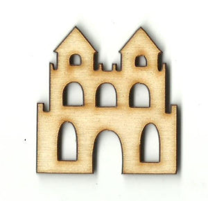 Castle - Laser Cut Wood Shape Bld58 Craft Supply