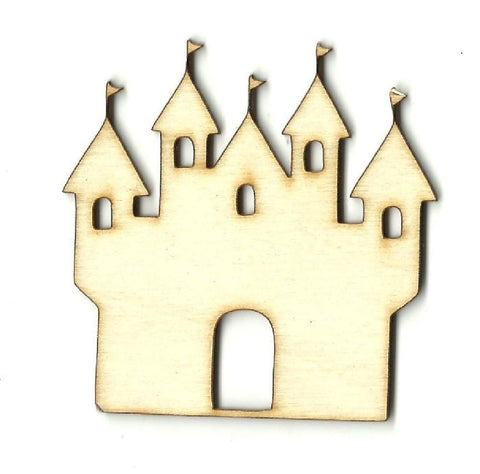 Castle - Laser Cut Wood Shape Bld59 Craft Supply