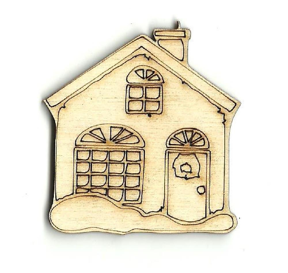 House - Laser Cut Wood Shape Bld5 Craft Supply