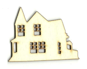 Manor House - Laser Cut Wood Shape Bld65 Craft Supply