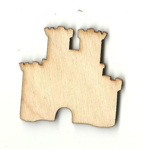 Castle - Laser Cut Wood Shape Bld79 Craft Supply
