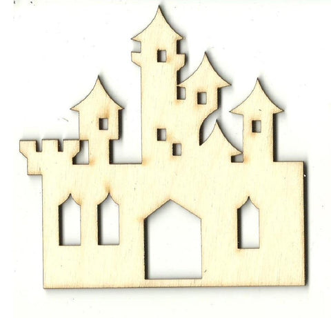 Castle - Laser Cut Wood Shape Bld85 Craft Supply