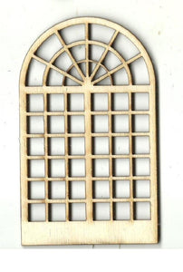 Arched Window - Laser Cut Wood Shape Bld87 Craft Supply