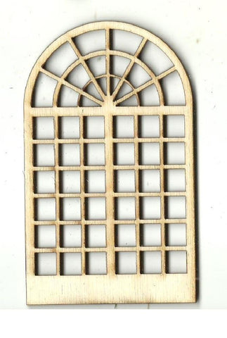 Arched Window - Laser Cut Wood Shape BLD87