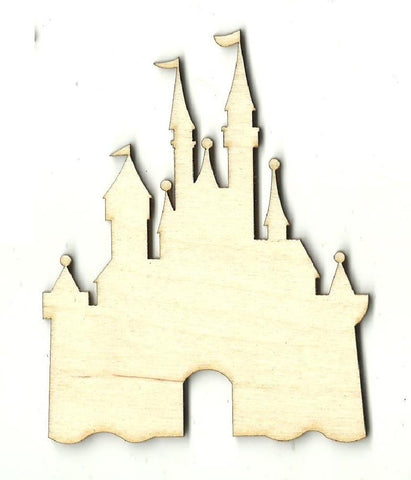 Castle - Laser Cut Wood Shape Bld90 Craft Supply