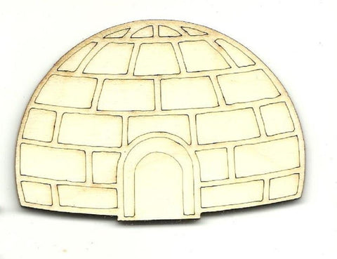 Igloo - Laser Cut Wood Shape Bld91 Craft Supply