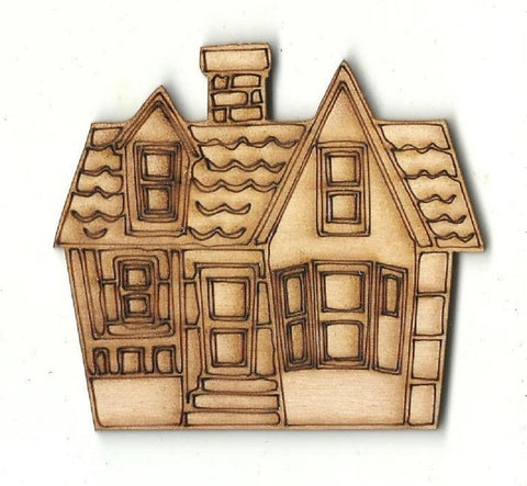 House - Laser Cut Wood Shape Bld95 Craft Supply