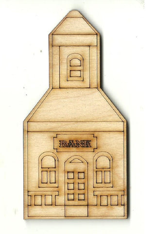 Bank - Laser Cut Wood Shape BLD98