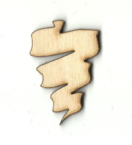 Banner  - Laser Cut Wood Shape BNR18