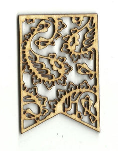 Paisley Banner - Laser Cut Wood Shape Bnr2 Craft Supply
