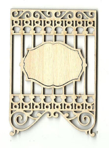Banner - Laser Cut Wood Shape Bnr7 Craft Supply