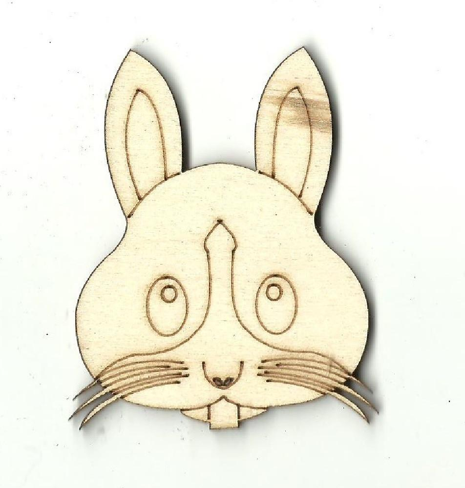 Bunny Rabbit Face - Laser Cut Wood Shape Bny10 Craft Supply