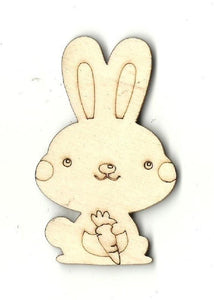 Bunny Rabbit - Laser Cut Wood Shape Bny12 Craft Supply