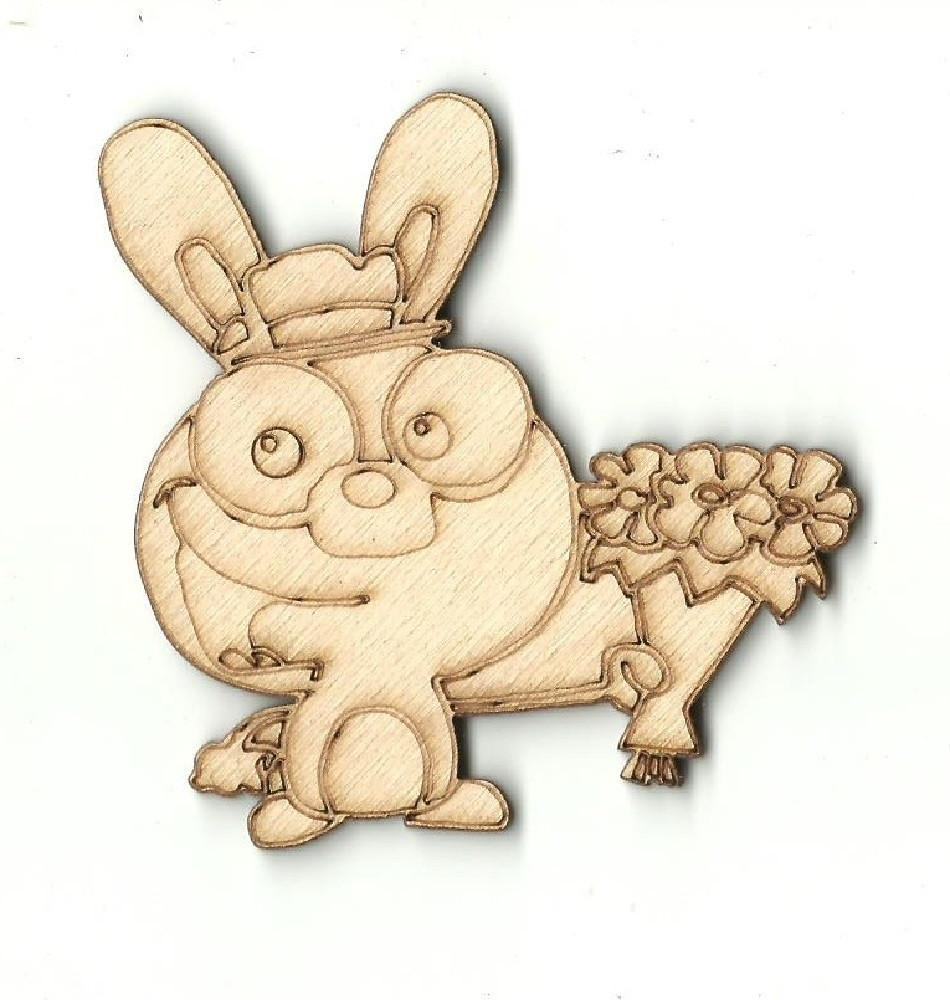 Bunny Rabbit - Laser Cut Wood Shape Bny15 Craft Supply
