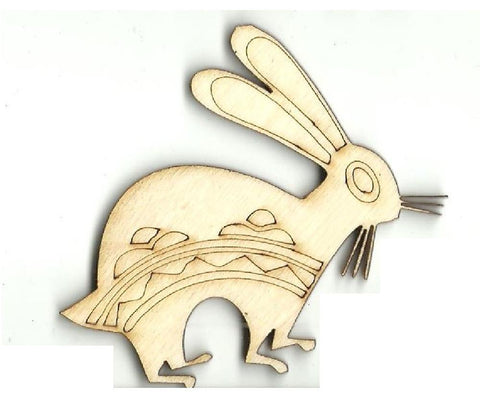 Bunny - Laser Cut Wood Shape Bny42 Craft Supply