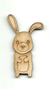 Bunny Rabbit  - Laser Cut Wood Shape BNY47