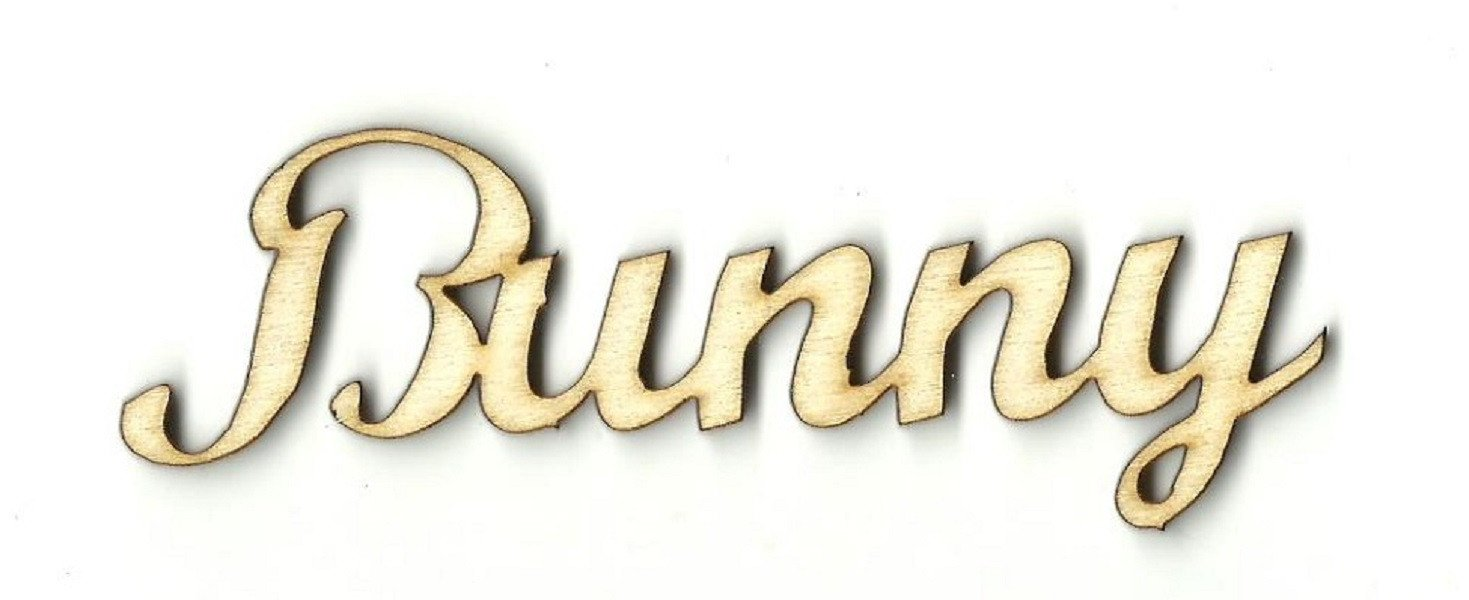 Bunny - Laser Cut Wood Shape Bny8 Craft Supply