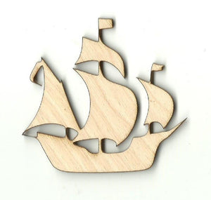 Sailboat - Laser Cut Wood Shape Bot12 Craft Supply