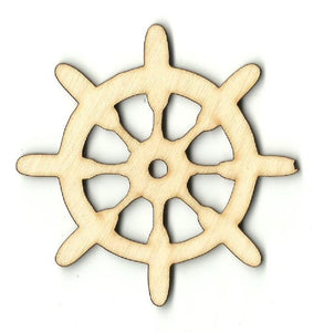 Ships Wheel - Laser Cut Wood Shape Bot26 Craft Supply