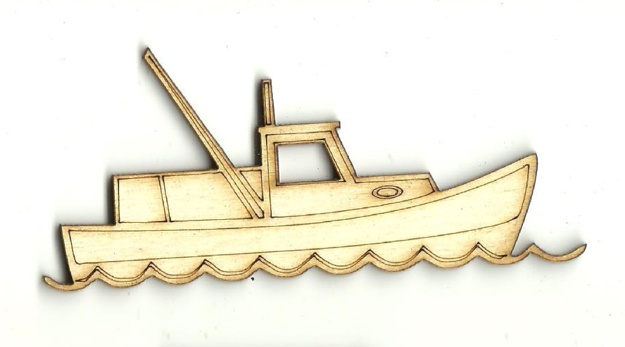 Shrimp Boat - Laser Cut Wood Shape BOT44