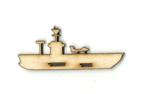Aircraft Carrier - Laser Cut Wood Shape Bot24 Craft Supply