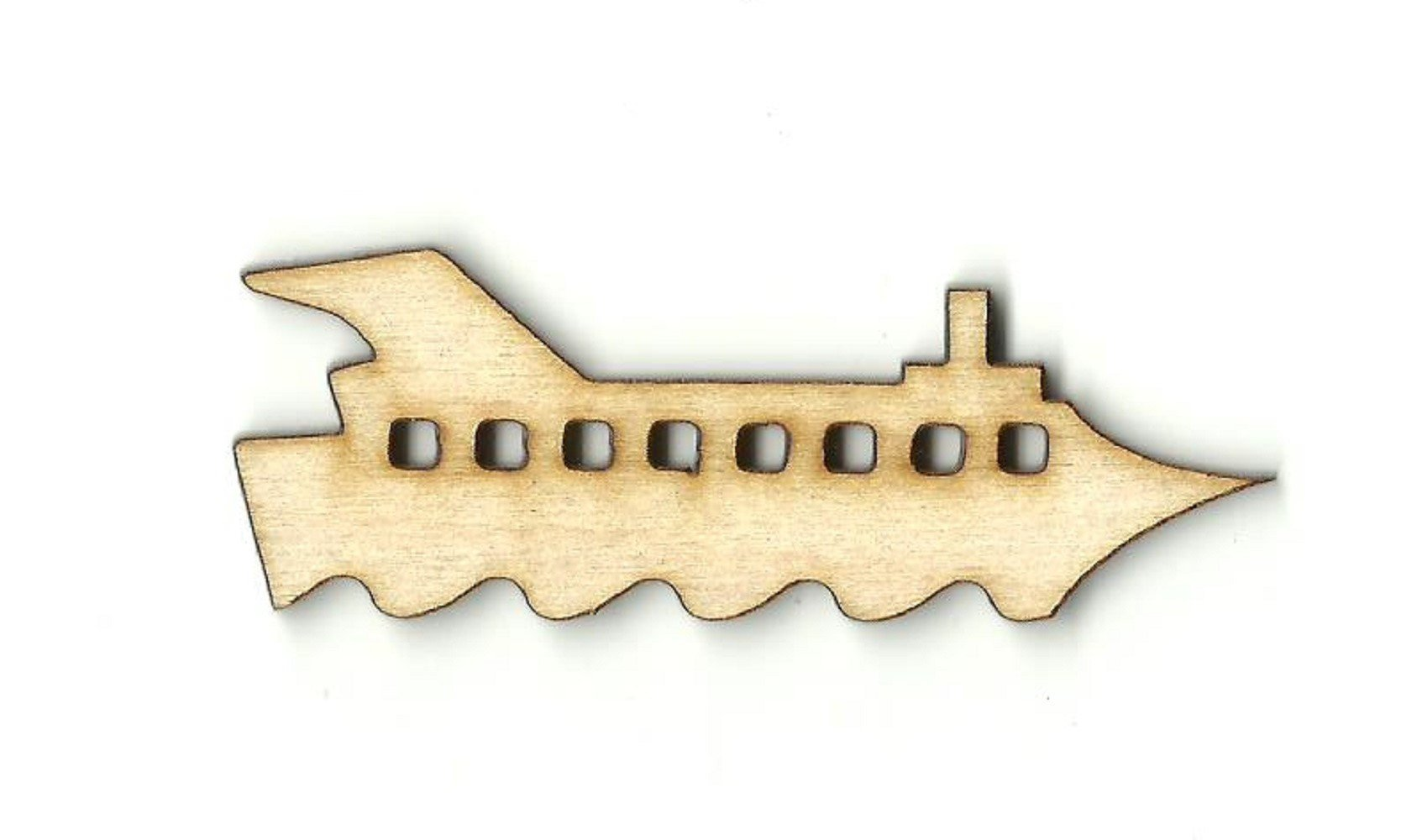 Cruise Ship - Laser Cut Wood Shape Bot22 Craft Supply