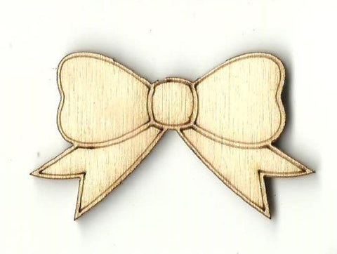 Bow - Laser Cut Wood Shape Bow13 Craft Supply