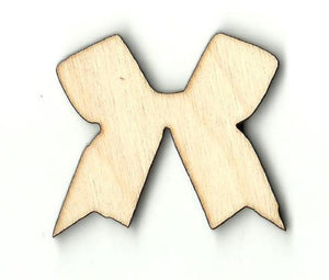 Bow - Laser Cut Wood Shape Bow9 Craft Supply
