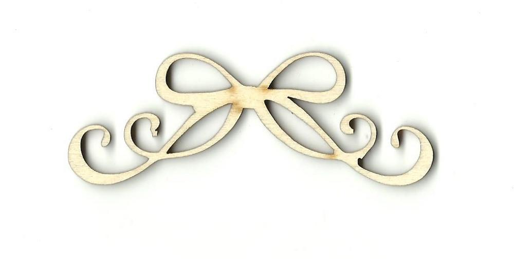 Curly Bow - Laser Cut Wood Shape Bow3 Craft Supply