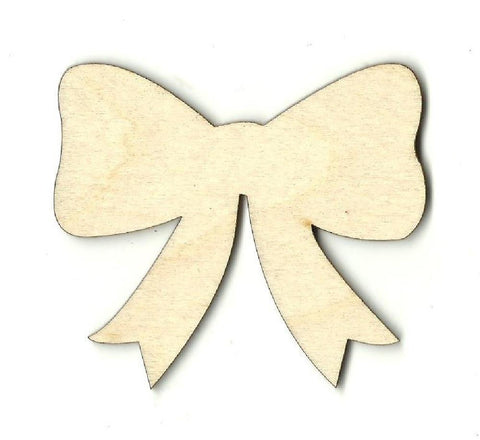 Bow - Laser Cut Wood Shape Bow4 Craft Supply