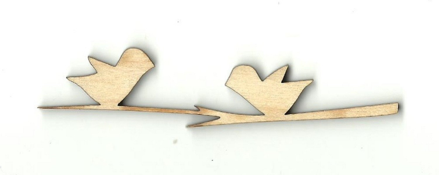 Two Birds On A Branch - Laser Cut Wood Shape Brd129 Craft Supply