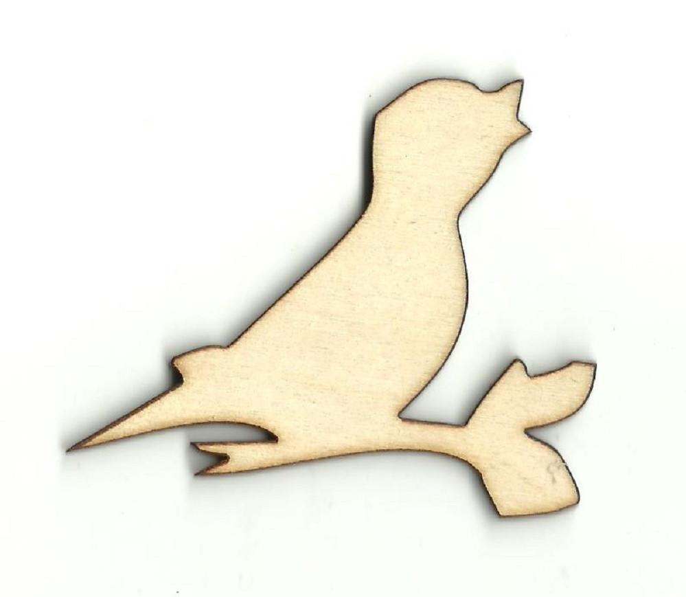Bird On A Stick - Laser Cut Wood Shape Brd122 Craft Supply