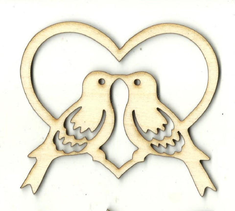 Love Birds - Laser Cut Wood Shape Brd185 Craft Supply