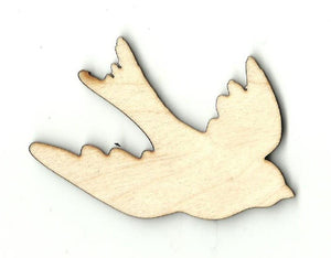 Flying Bird - Laser Cut Wood Shape Brd112 Craft Supply