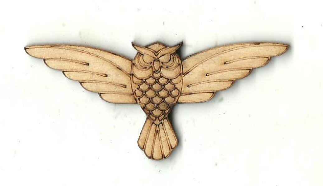Owl - Laser Cut Wood Shape Brd195 Craft Supply
