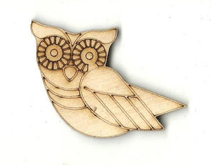 Owl - Laser Cut Wood Shape Brd196 Craft Supply