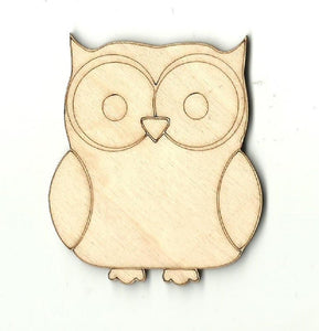 Owl - Laser Cut Wood Shape Brd19 Craft Supply