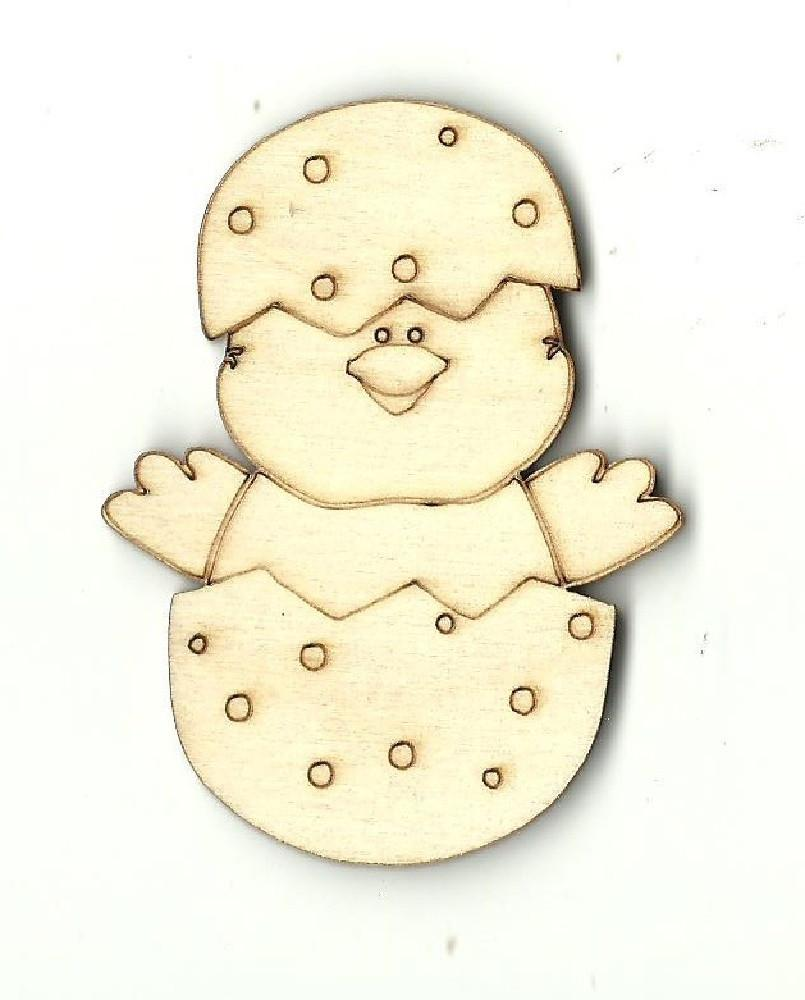 Chick In An Egg - Laser Cut Wood Shape Brd27 Craft Supply